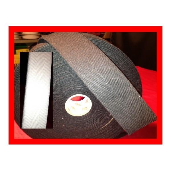 Sangle Coton 40 mm Noir,Blanc et écru - A la coupe