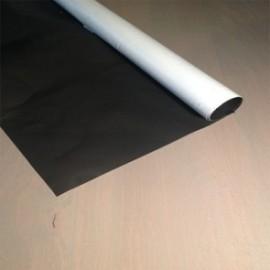 Plastique noir blanc occultant M1- à la coupe