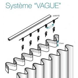"""Tringle complete droite KS avec systeme """"vague"""""""